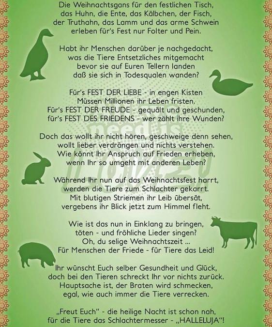 Weihnachtssprüche Gesundheit.Ein Weihnachtsgedicht Zum Nachdenken Veganbook