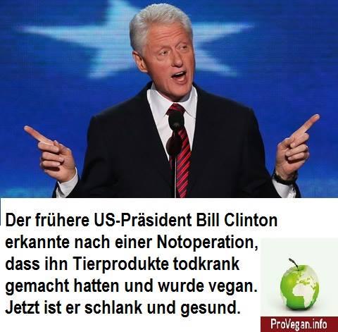 Wie Bill Clinton Veganer wurde