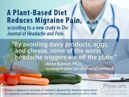 Vegane Ernährung vermindert Schmerzen bei Migräne