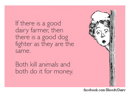 Gibt es einen Unterschied zwischen Milchbauern und Veranstalter von Hundekämpfen?
