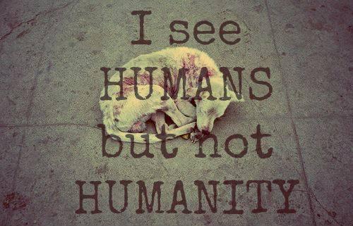 Ich sehe Menschen, aber keine Menschlichkeit