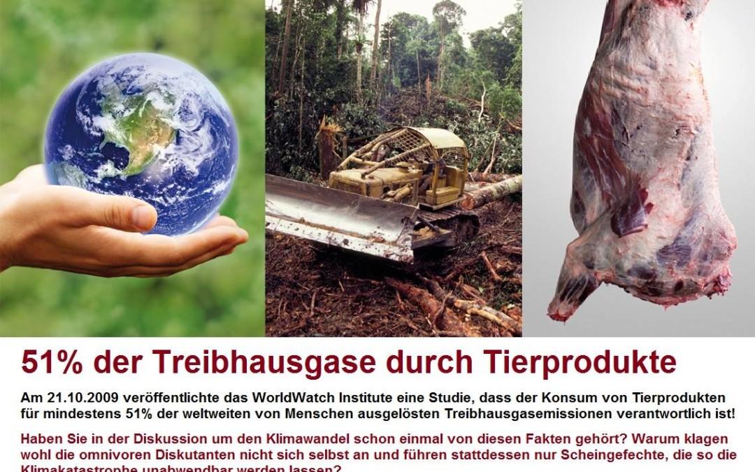 51% der Treibhausgase durch Tierprodukte
