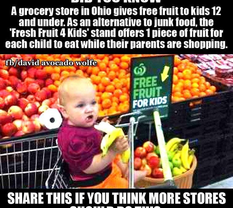 Kostenfreie Früchte für alle Kinder bis 12 Jahren – so soll es sein!