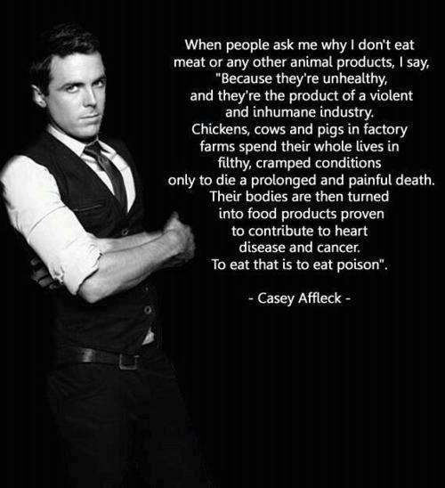 Casey Affleck – warum er keine Tierprodukte isst