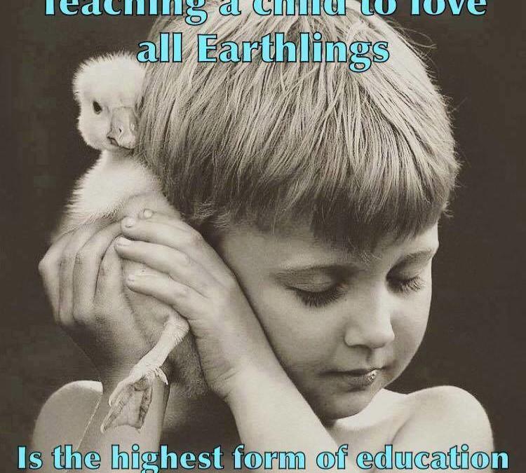 Kindern die Liebe zu allen Mitgeschöpfen zu lehren, also aus ethischen Gründen vegan zu leben, ist die höchste Stufe von Erziehung