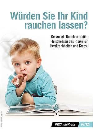 Geben Sie Ihrem Kind auch Zigaretten? – Warum geben Sie ihm dann Fleisch, Milchprodukte, Eier und Fisch?