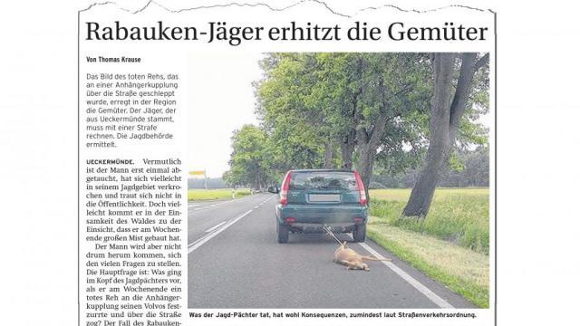 """Seltsamer Staatsanwalt und seltsame Richterin (wahrscheinlich beide Jäger) verurteilen einen Zeitungsredakteur zu 1000 Euro Strafe, weil er über einen Lusttöter die Wahrheit geschrieben hatte: """"Rabauken-Jäger"""""""