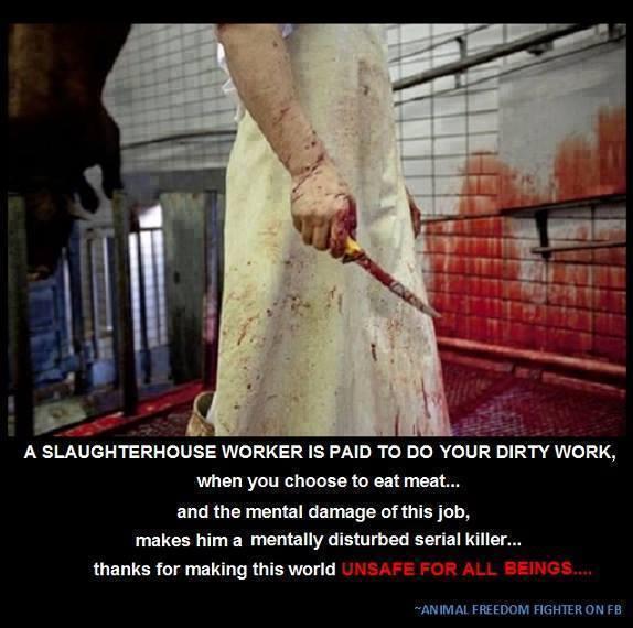 Die Arbeiter in Tierfabriken und Schlachthäusern