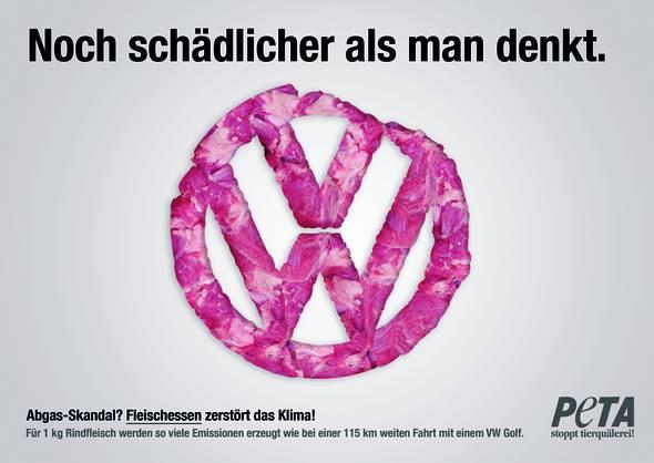 Im Vergleich zum Konsum von Fleisch und Milch sind die Auswirkungen der Abgase von VW sehr klein