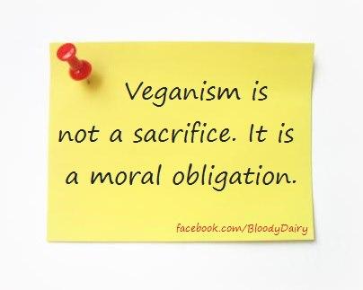 Veganismus ist kein Opfer, sondern eine moralische Verpflichtung