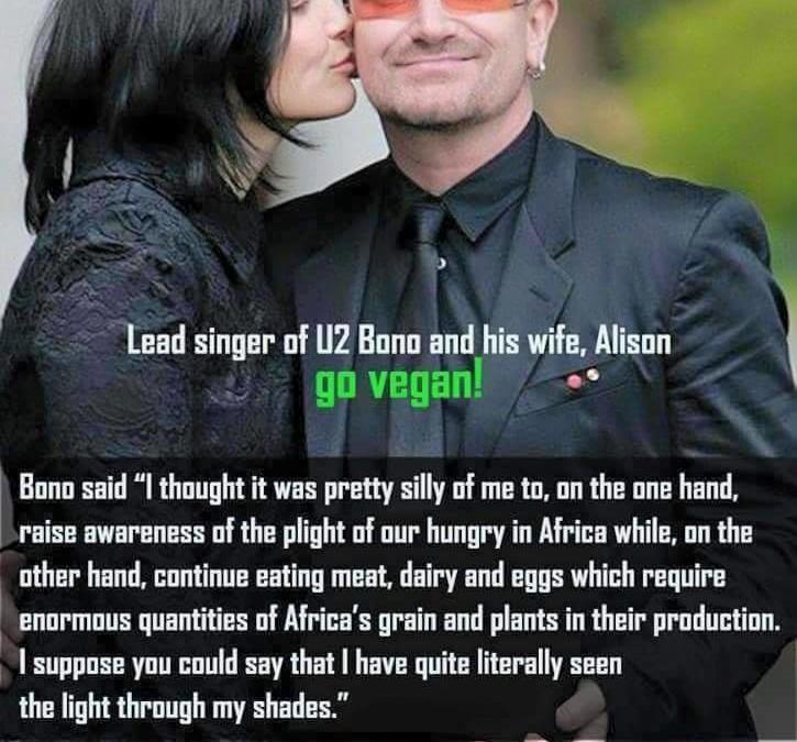 Bono (U2) und seine Frau wurden vegan – super, auch seine Begründung!