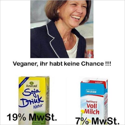 Ilse Aigners bewirbt Milch und Milchprodukte als gesund