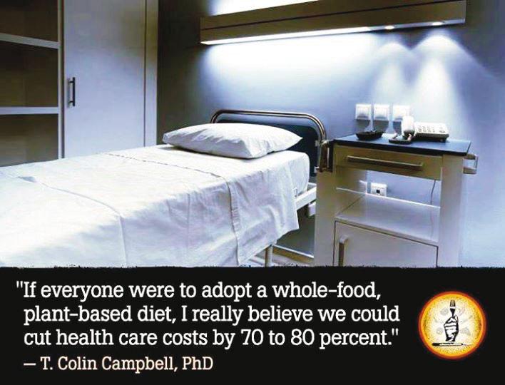 """""""Wenn sich jeder vollwertig rein pflanzlich ernähren würde, dann bin ich fest davon überzeugt, dass die Kosten im Gesundheitswesen um 70–80 Prozent gesenkt werden könnten."""""""