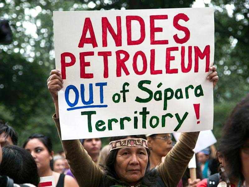 Petition gegen die Ölbohrungen im Amazonas durch China