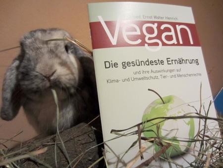 Vegan-Broschüre auch bei Tieren immer beliebter :-)