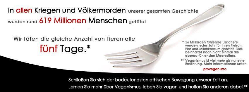 Was ist extrem? Veganismus oder Massenmord?