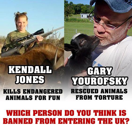 Kendall Jones ist eine 17-jährige Göre, die gefährdete Tierarten aus Spass ermordet.