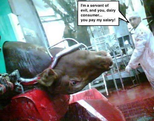 """""""Ich bin ein Diener des Bösen. Und Du als Milch- und Fleischkonsument, Du bezahlst mich dafür!"""""""