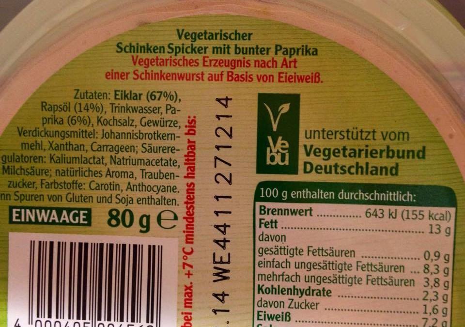 Es war einmal ein Vegetarierbund, der seine Seele an einen Fleischkonzern verkaufte und Eiprodukte propagierte