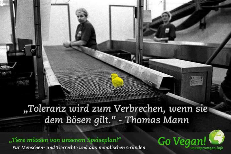 """""""Toleranz wird zum Verbrechen, wenn sie dem Bösen gilt."""" – Thomas Mann (Schriftsteller, Literatur-Nobelpreisträger)"""