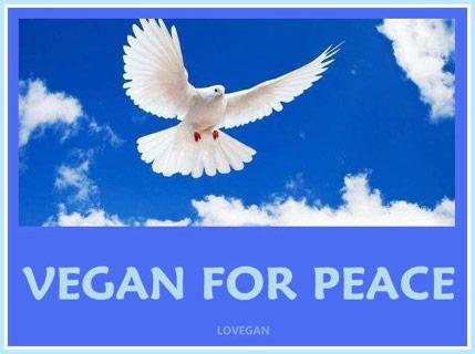 Friede gibt es durch den Veganismus
