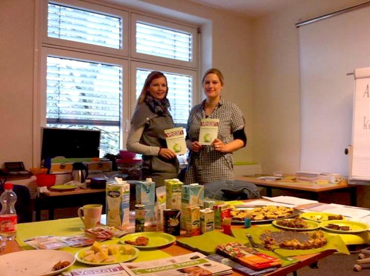 Veganer Infostand anlässlich des Gesundheitstages im Jobcenter Flensburg