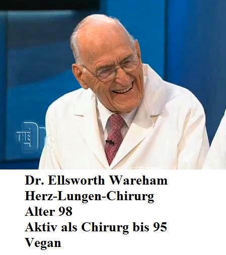 """Die """"Mangelernährung"""" schädigt sogar die fast 100-Jährigen – deshalb raten die Deutsche Gesellschaft für Ernährung (DGE), die Schweizer Gesellschaft für Ernährung (SGE) und ihre Spezis von der Tierindustrie davon ab!"""
