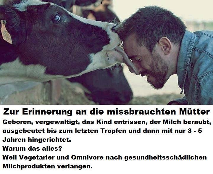 Am 10. Mai war Muttertag – wir erinnern an die von Omnivoren und Vegetariern missbrauchten Mütter!